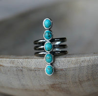 Turquoise Statement Ring, adjustable