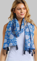 Block Print Scarf with Tassels