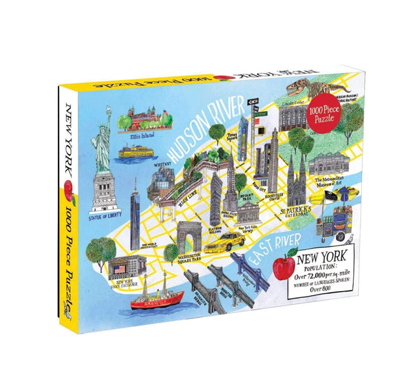 New York City Map 1054 Piece Puzzle