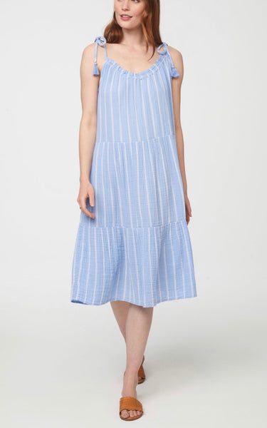 Stripe Willa To the Knee Dress (in nantucket)