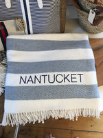 Nantucket Beach House Stripe Blanket
