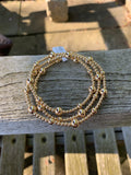 Triple Wrap 3mm, 5mm & 7mm Seamless Gold Filled Stretchy Bracelet