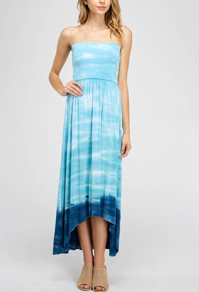 Ocean Blue Ombré Fold Over Skirt/ Dress