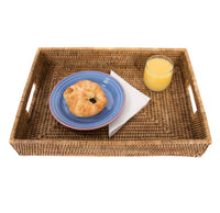 "17"" x 12"" x 3"" Rectangular Tray with Cutout Handles"