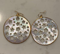 Large Starry Night Mother of Pearl Earrings