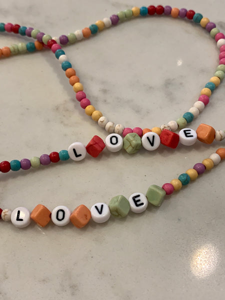 LOVE or HOPE Bead Mask / Sunglass Holder