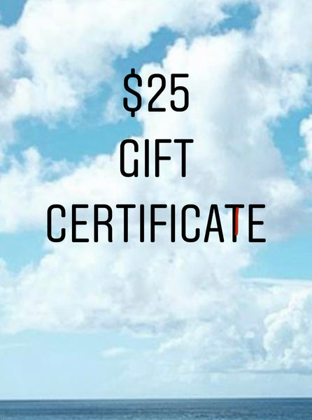 $25 - $1500.00 Gift Certificates