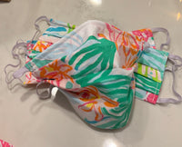 Lilly Pulitzer Print Face Masks, Metal Nose Wire