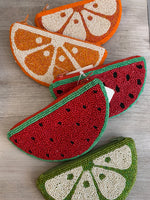 Beaded Fruit Purses