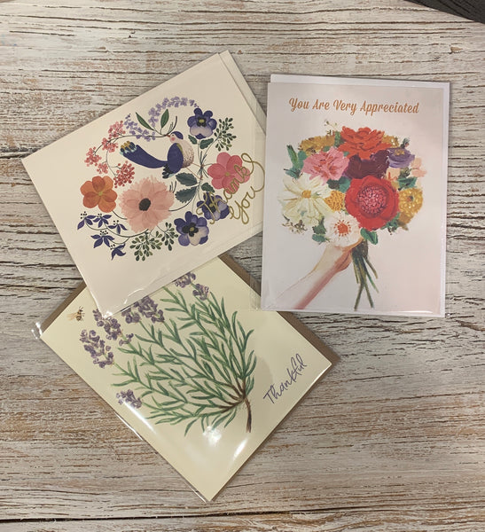Collection of 3 Thank You Cards #1