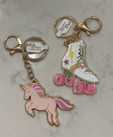 Unicorn or roller-skate Key Chain