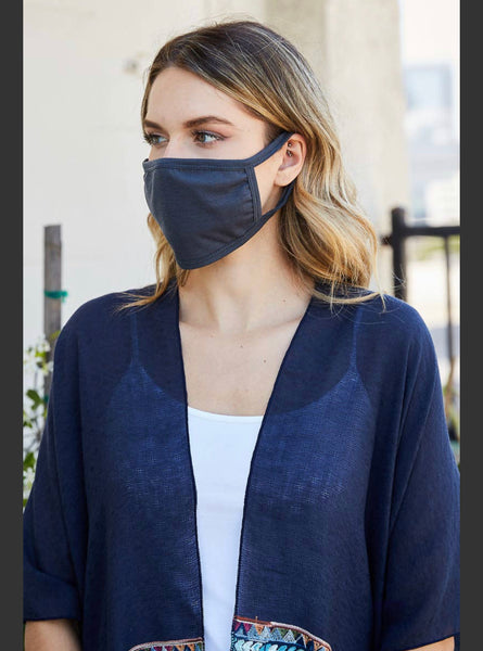 Adult Face Mask- Charcoal Grey