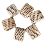 Rattan 6-Piece Oval Napkin Ring Set