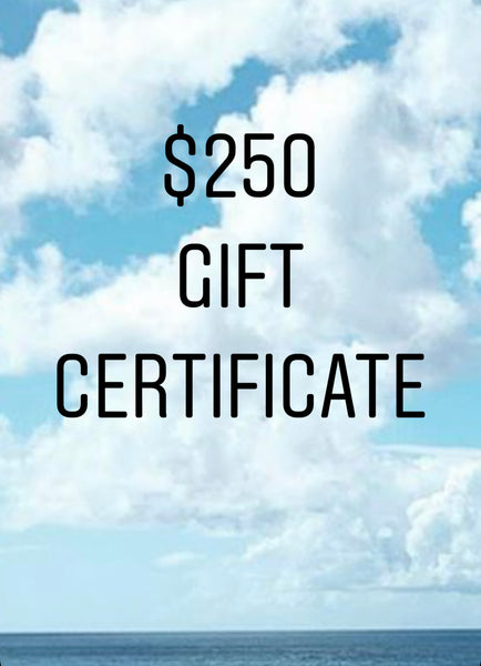 $250 Gift Certificate