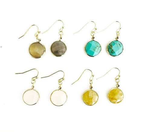 Cici Stone Dangle Earrings