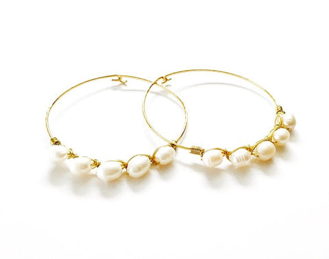 Ellis Pearl Bangle Bracelet
