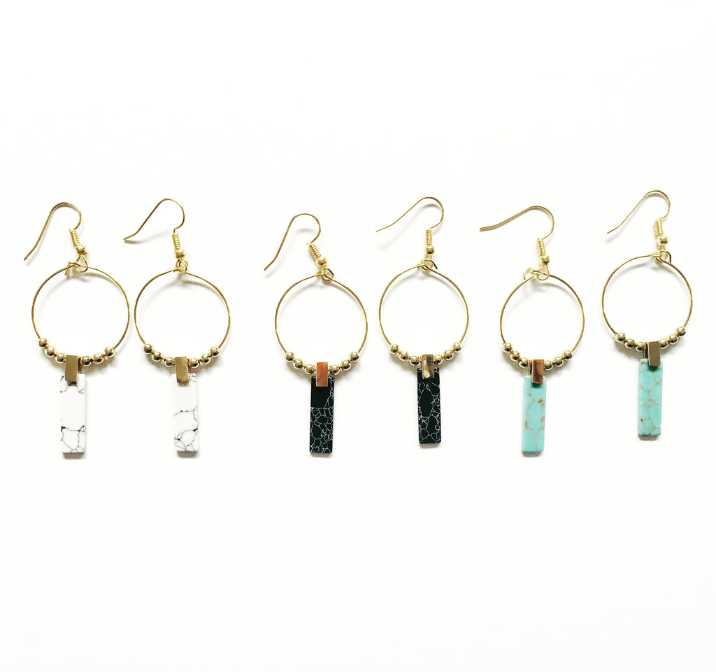 Emme Long Stone Dangles