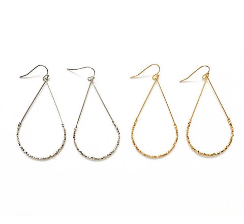 Clancy Nugget Teardrop Hoops