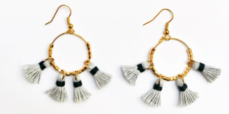 Tulum Two Tone Tassel Dangles