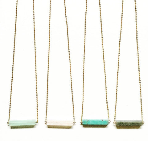 Venice Stone Bar Necklace