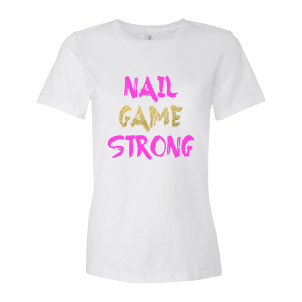 """Nail Game Strong"" Tshirt (White)"