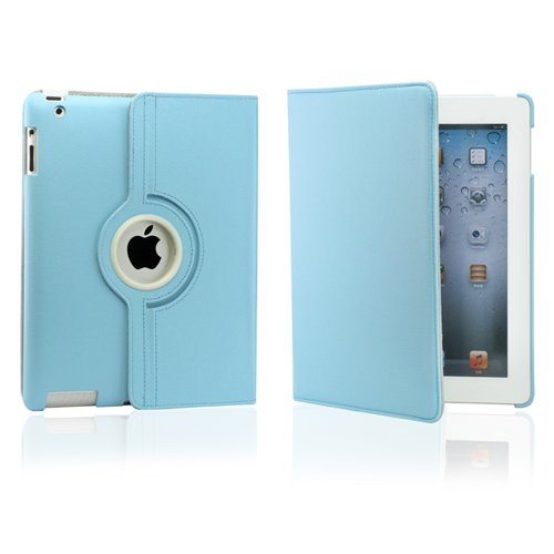 Gearonic ™ Leopard Pattern 360 Degree Rotating Stand Smart Cover PU Leather Swivel Case for Apple iPad 4th Generation Retina Display / the new iPad 3 / iPad 2 (Wake/sleep Function)