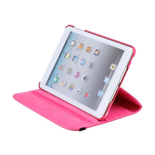 Gearonic TM 360 Degree Rotating Stand Smart Cover PU Leather Swivel Case for Apple iPad Mini and 2013 iPad Mini with Retina Display (Wake/sleep Function) - Pink/White Polka Dot