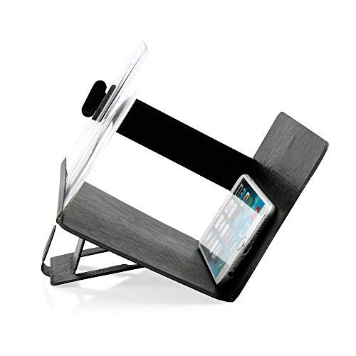 OCT17 Phone Screen Magnifier Cellphone Projector Enlarged Amplifier Mobile Bracket Holder 3D HD Movie Video Stand Compatible with All Smartphone