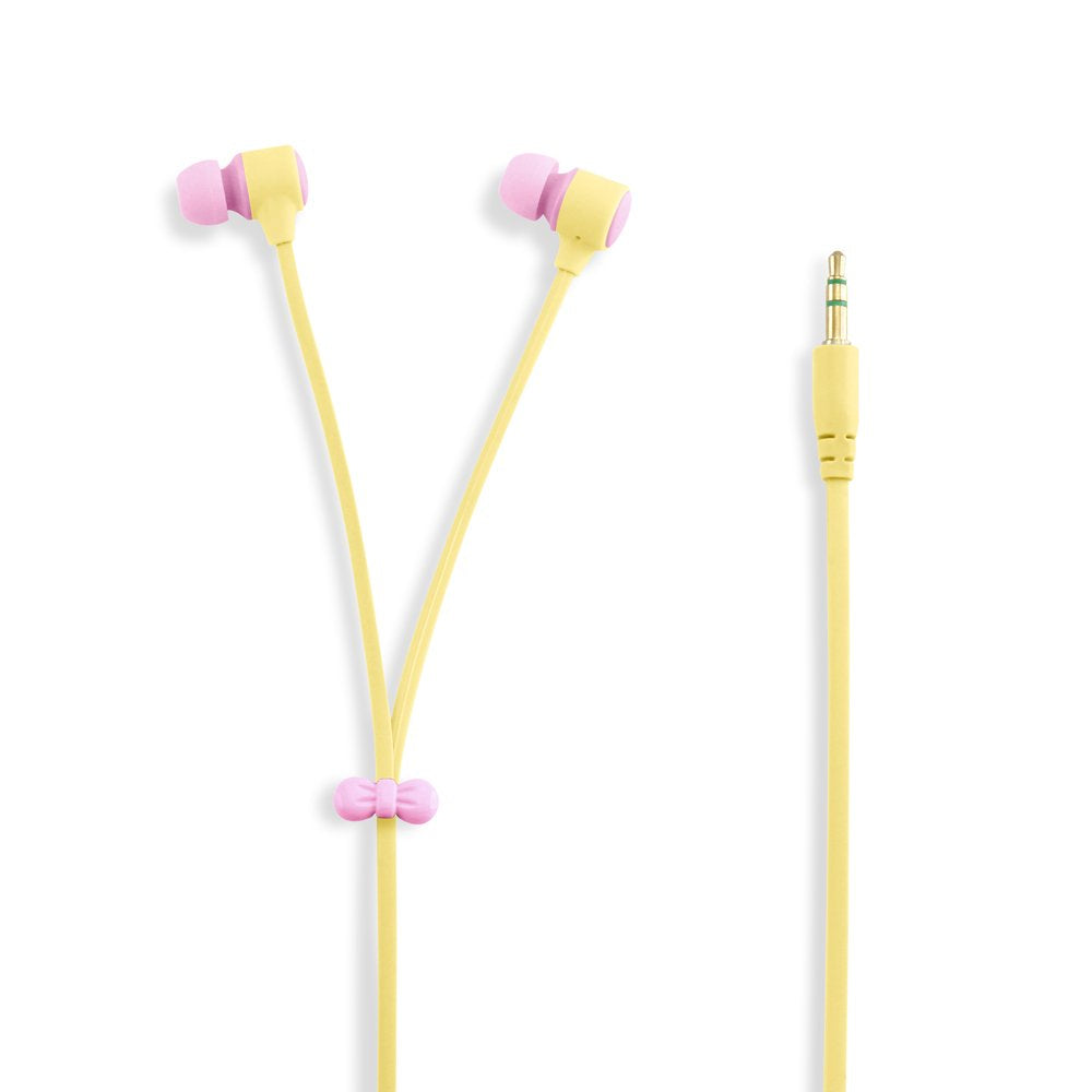 GEARONIC TM Cute 3.5mm in Ear Earphones Earbuds Headset with Macaroon Ear Buds Organizer Box Case Compatible with Smart Phones PC MP3