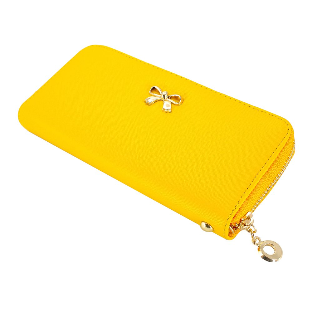 GEARONIC TM Women Wallet Long Clutch Faux Leather Card Holder Fashion Purse Lady Woman Handbag Bag