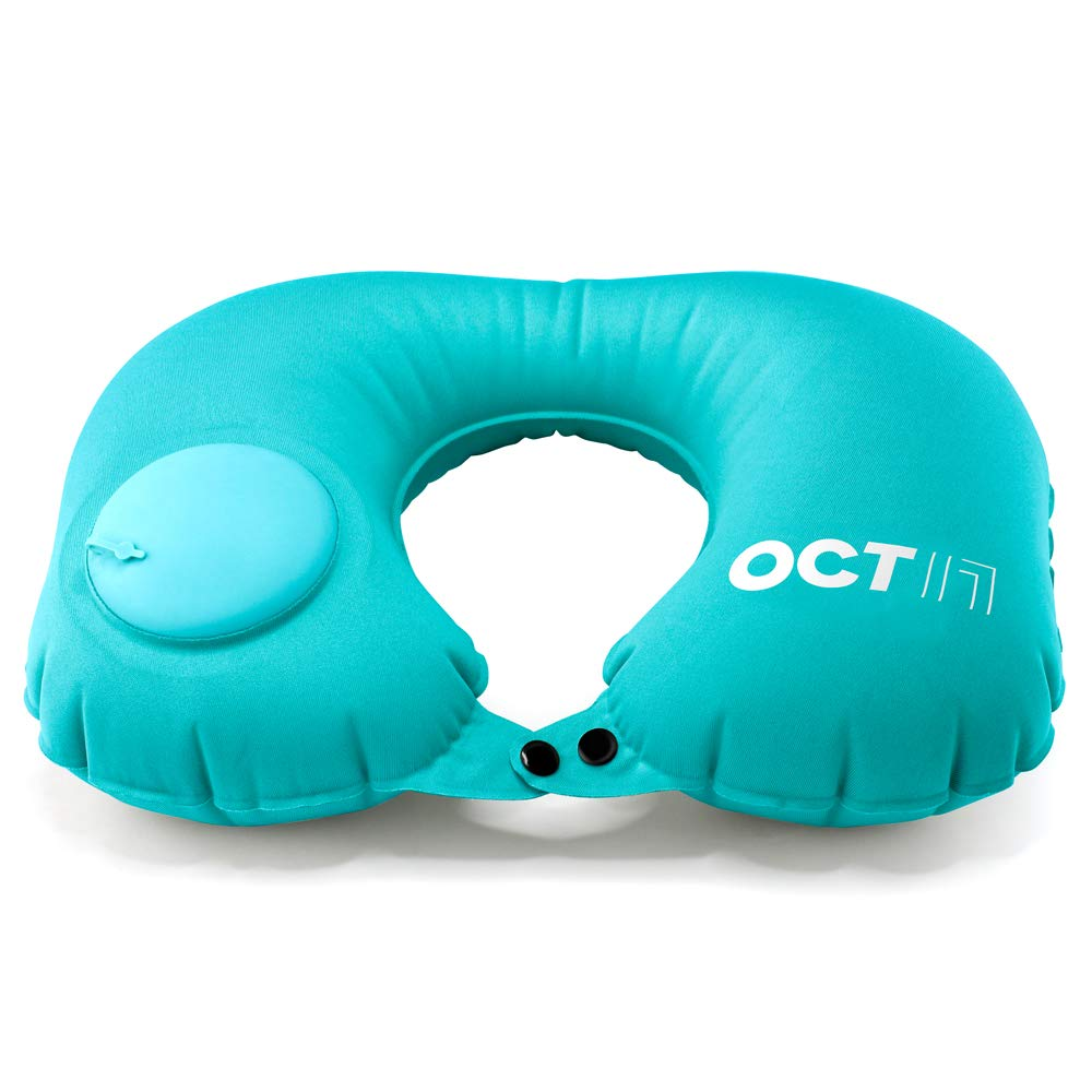 OCT17 Inflatable Air Pump Travel Neck Pillow Comfortable U-Shape Airplane Support Cushion Flight