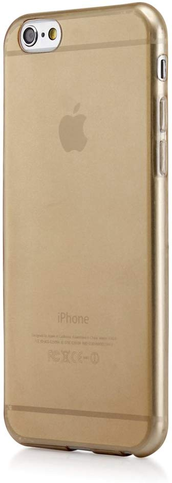 GEARONIC TM Ultra Thin Clear TPU Transparent Clear Skin Case Cover Compatible with Apple iPhone 6 / 6S Plus 5.5 - Gold