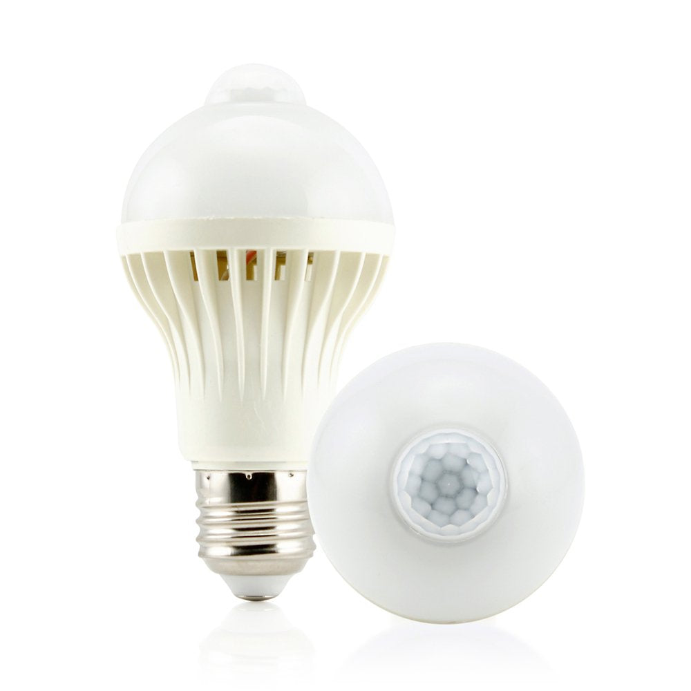 Oct17 Motion Sensor 5 Watt LED Smart Light Bulb Auto PIR Motion Detection Home White Lighting 5W Lamp