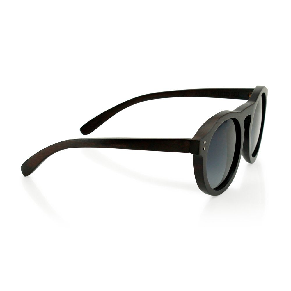 GEARONIC TM Wooden Frame Mens Womens Dark Brown Wood Sunglasses Eyewear