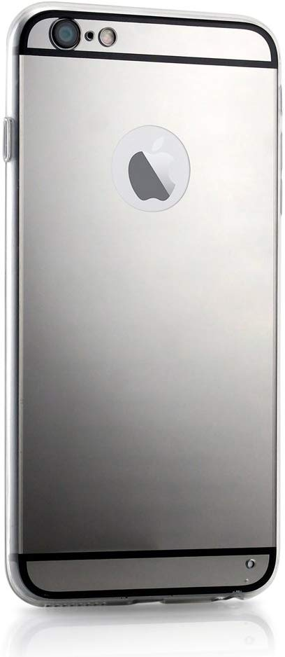 GEARONIC TM Luxury Aluminum Ultra-thin Mirror Back Metal Case Cover Compatible with Apple iPhone 6/6S Plus 5.5'' - Black