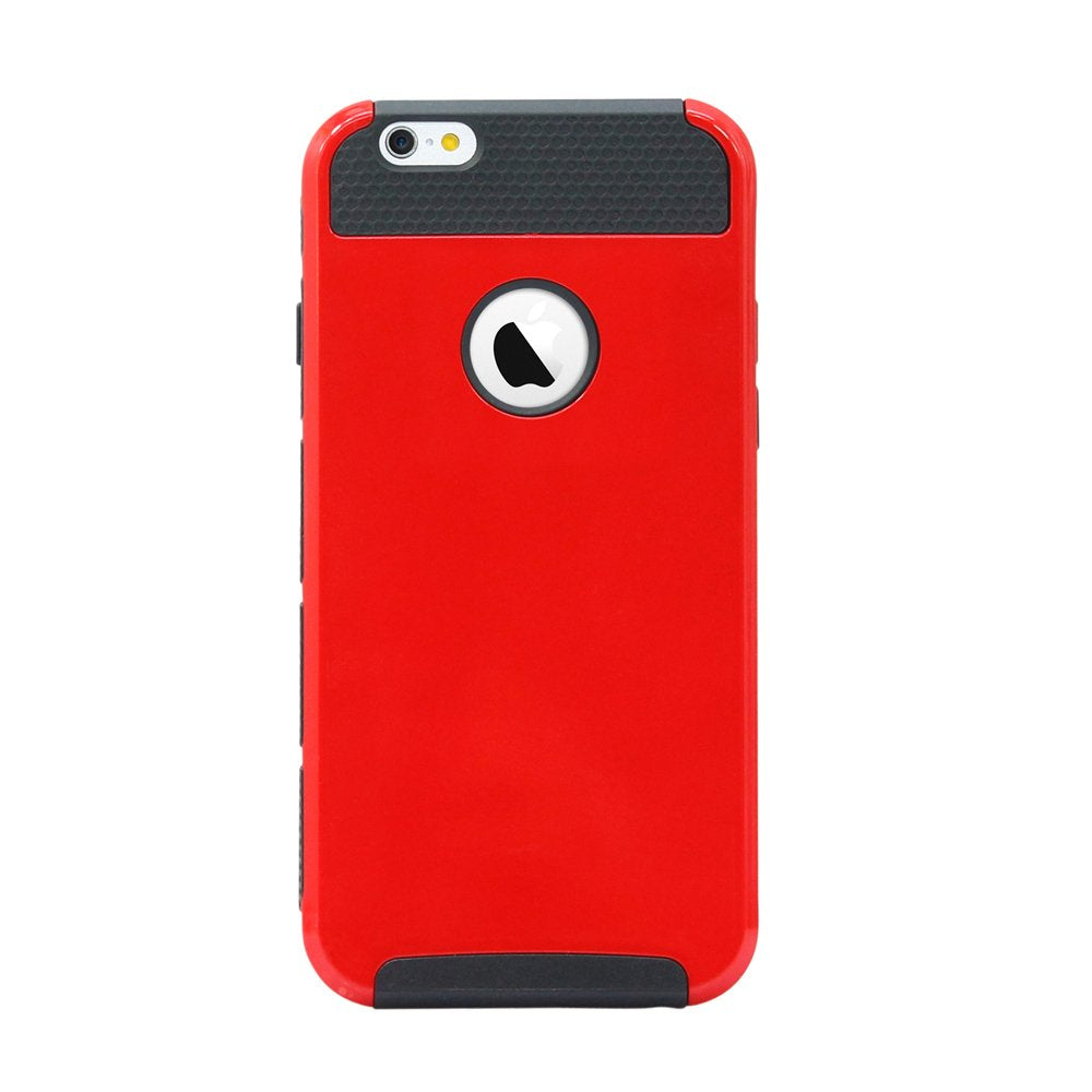 Oct17 Black PC + Red TPU Heavy Duty Rugged Shockproof Dirt Dust Proof Hybrid Hard Matte Cover Case for iPhone 6/6S Plus
