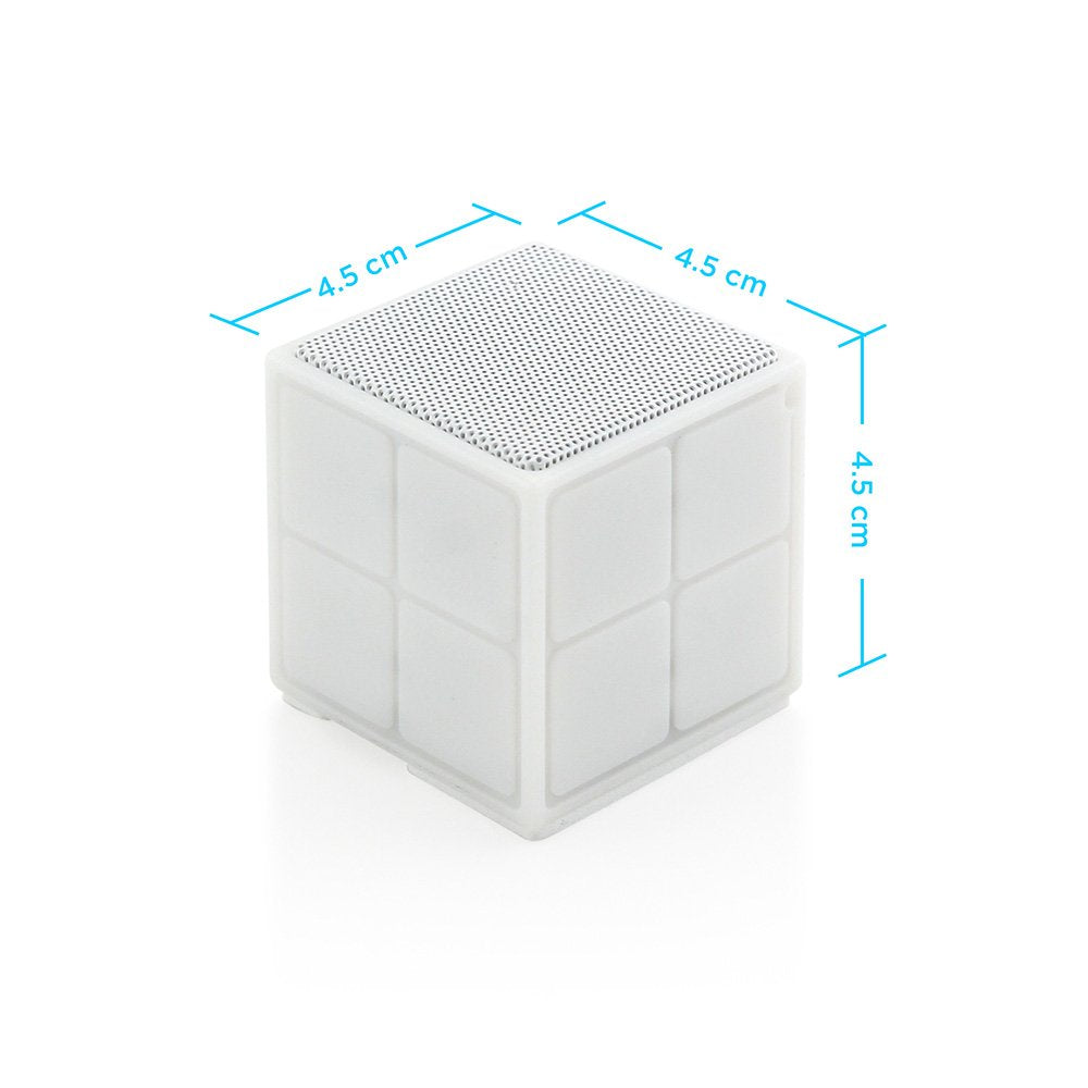 OCT17 Sugar Cube Bluetooth Mini Wireless Speaker Portable LED Light for Smartphones TF Card Compatible with iPhone iPad Samsung