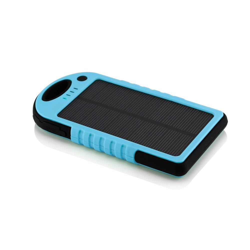 GEARONIC TM 5000mAh Portable Shockproof Waterproof Solar Charger Battery Panal Double USB Power Bank for Cell Phone MP3