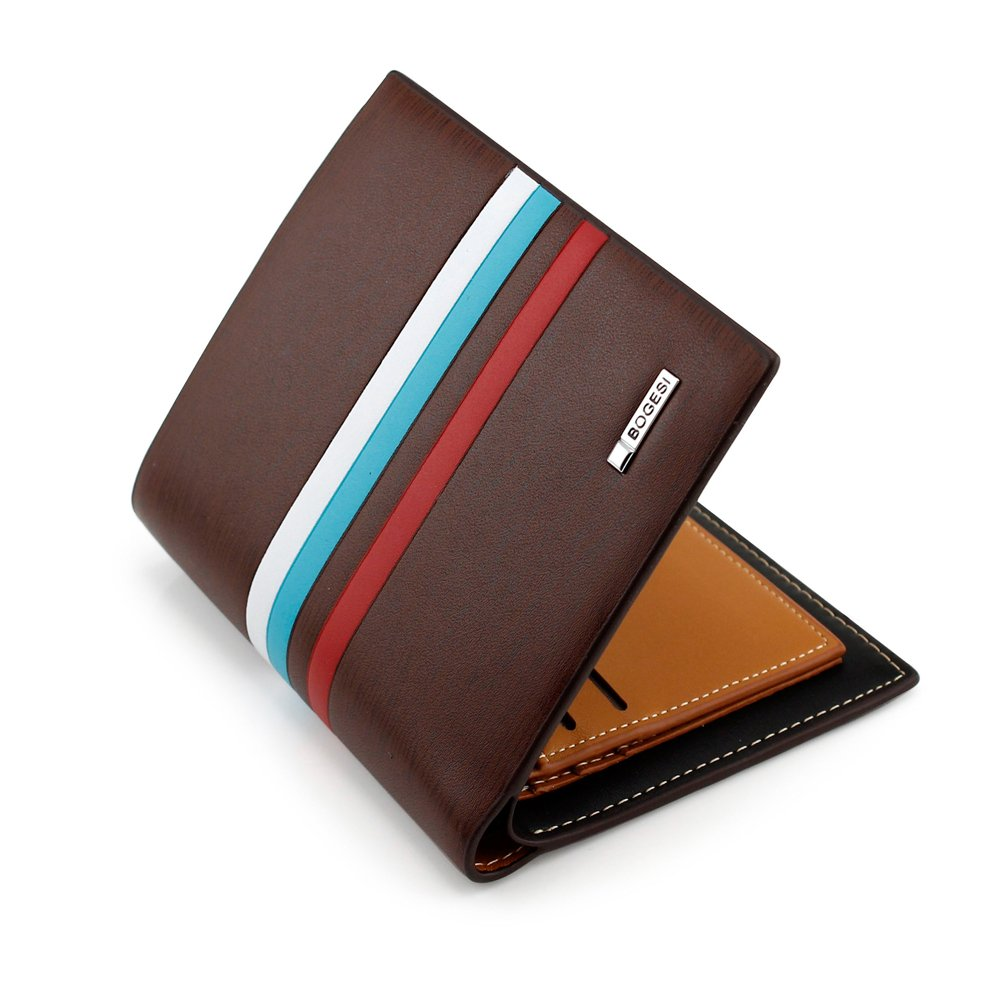 GEARONIC TM New Fashion Stylish Men's Leather Bifold Credit ID Cards Money Holder Slim Wallet Purse Clutch
