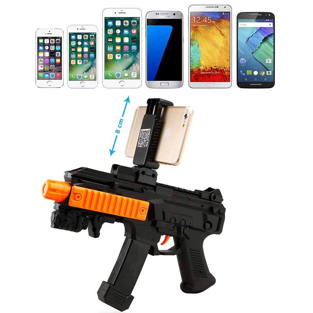 Oct17 AR Toy Gun Bluetooth with18 Games for Mobile iOS Apple Android Smart Phone Video Game Augmented Reality Virtual Reality VR Game Controller and Lots of Free Apps