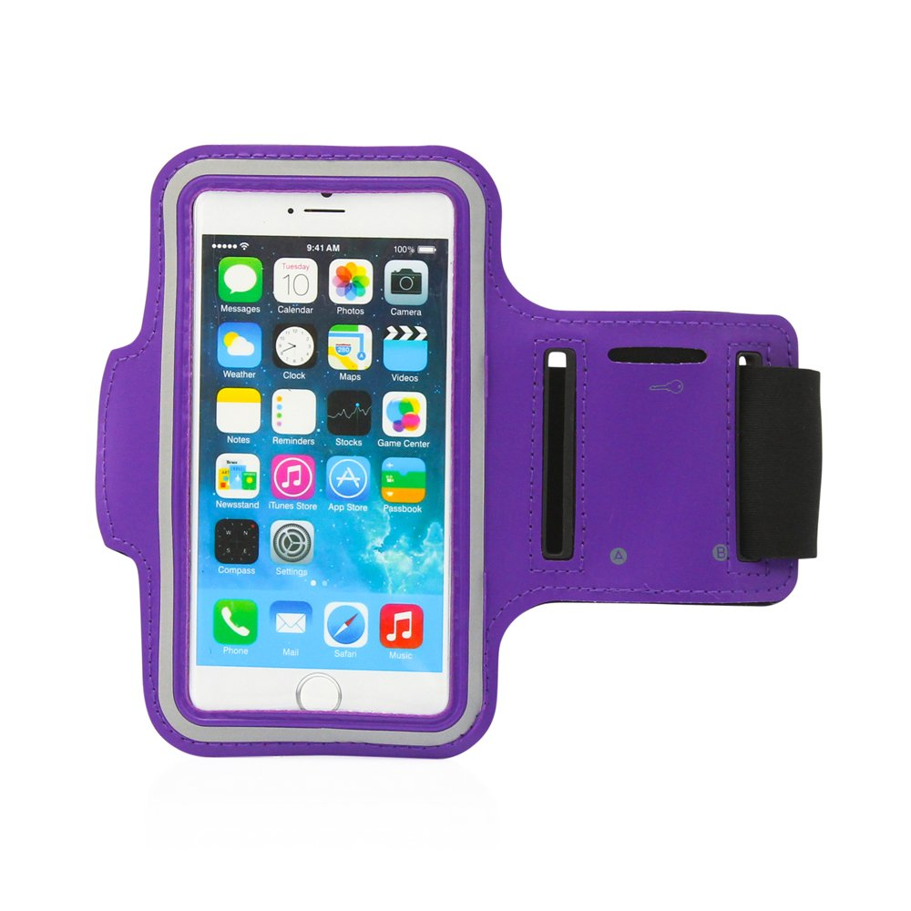 GEARONIC TM Premium Full Running Jogging Sports Gym Armband Case Cover Holder Compatible with iPhone 6 - Purple