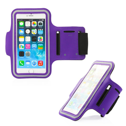 GEARONIC TM Premium Full Running Jogging Sports Gym Armband Case Cover Holder Compatible with iPhone 7 - Purple