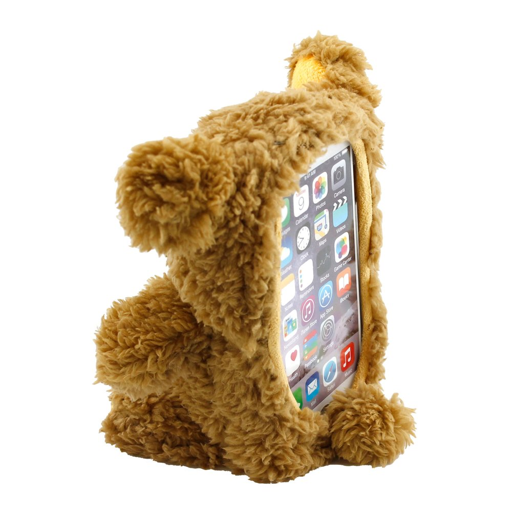 GEARONIC TM 3D Cute Cool Lovely Doll Toy Plush Cover Case Teddy Bear Case Skin Compatible with Apple iPhone 6 Plus 5.5