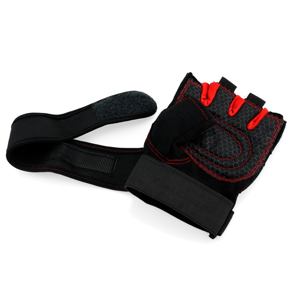 Oct17 Workout Gym Half Finger Gloves Weight Lifting Wrist Wrap Sports Exercise Training Fitness