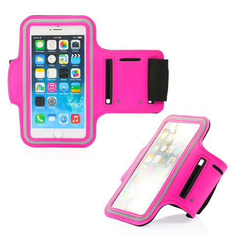 GEARONIC TM Premium Full Running Jogging Sports Gym Armband Case Cover Holder Compatible with Apple iPhone 6 - Hot Pink
