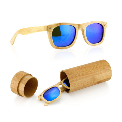 Polarized Bamboo lightweight Wood Vintage Sunglasses Men Women Eyewear