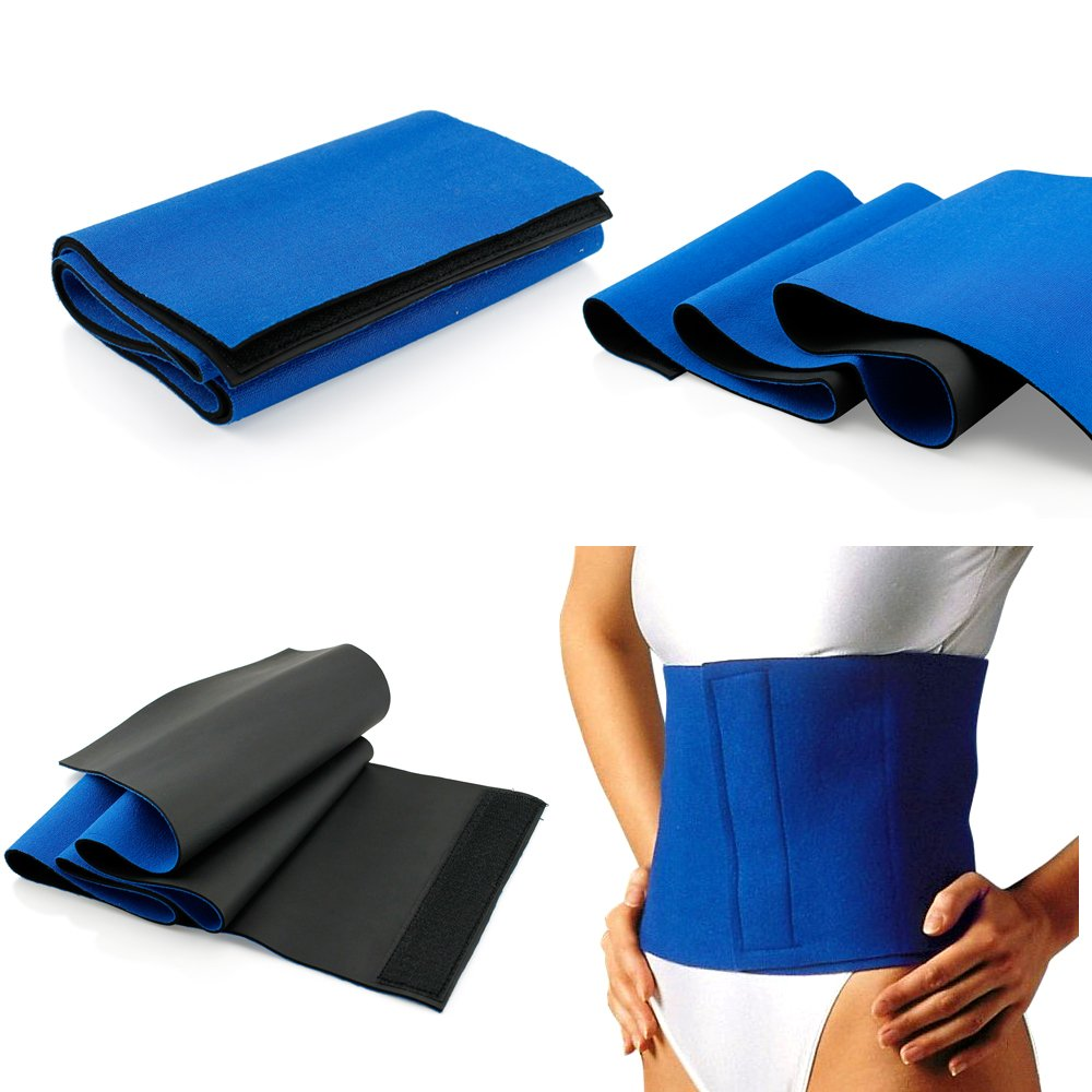Waist Trimmer Sweat Fat Cellulite Burner Body Leg Slimming Shaper Exercise Wrap Belt Body Slimming Belt(1PCS)