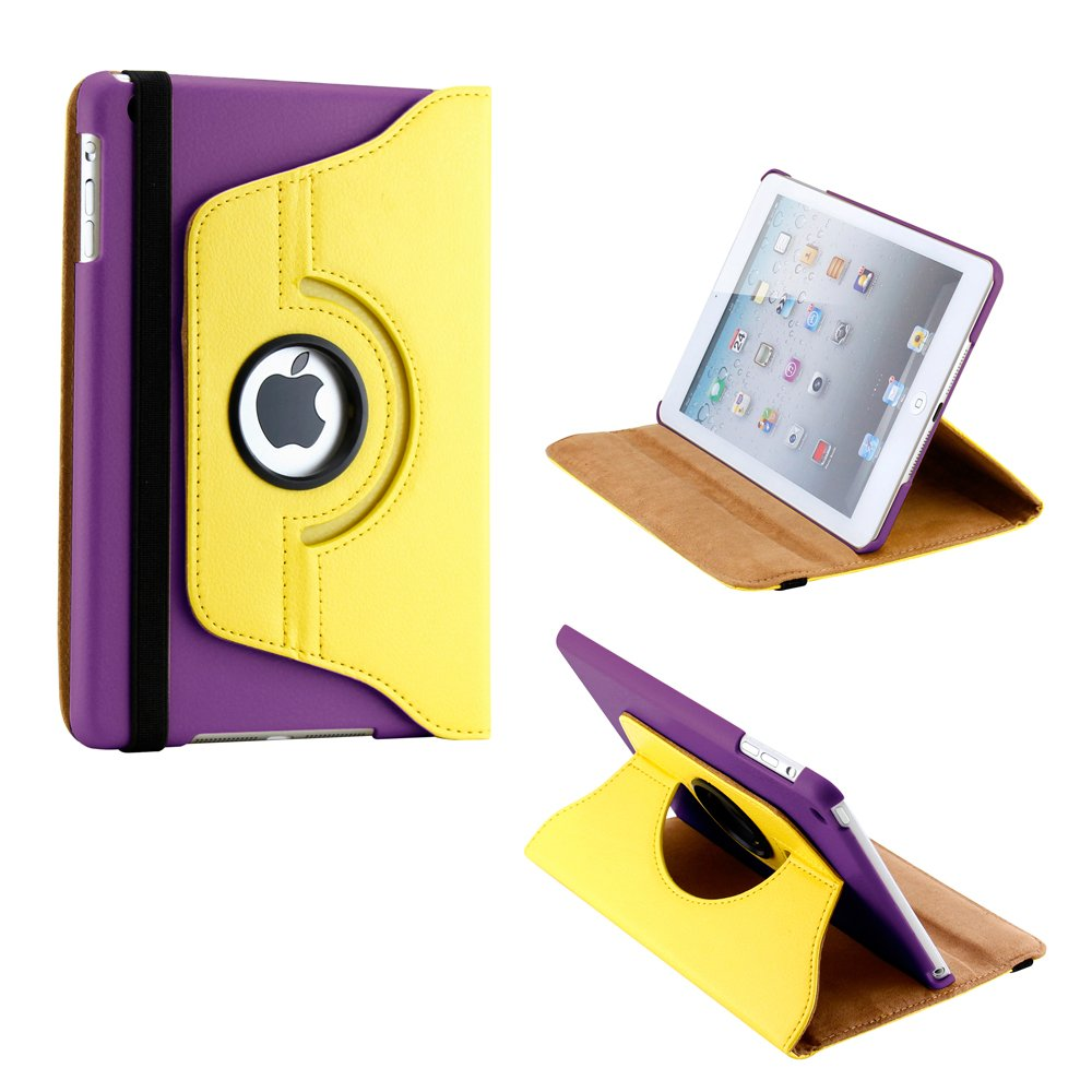 GEARONIC TM 360 Degree Rotating PU Leather Case Smart Cover With Swivel Stand for Apple iPad Mini / Mini Retina / Mini 3 Case (Released 2014)