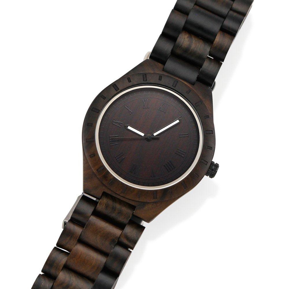 Oct17 Men's Wooden Watch, Unique Luxury Wristwatch, Casual Quartz Watches, Fashion Natural Wood Wrist Watch