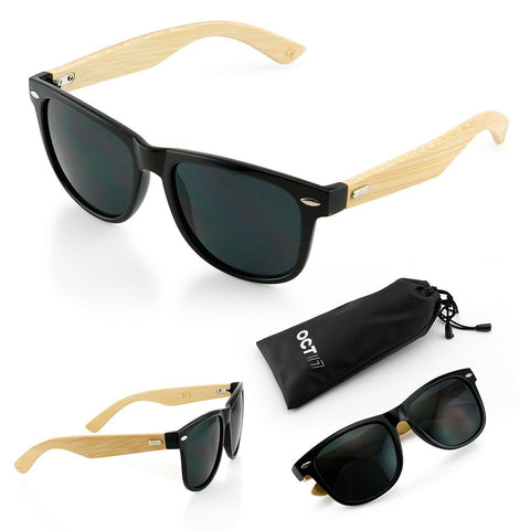 Oct17 Wood Bamboo Sunglasses Wooden Mens Womens Vintage Eyewear